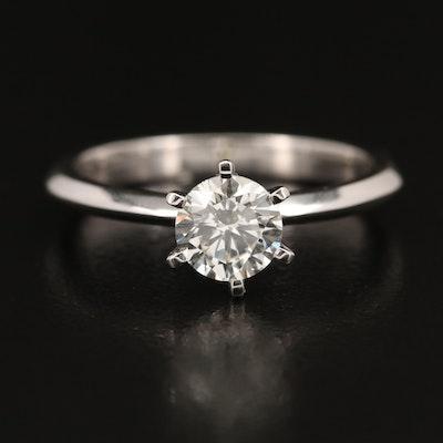 18K 1.03 CT Diamond Solitaire Ring