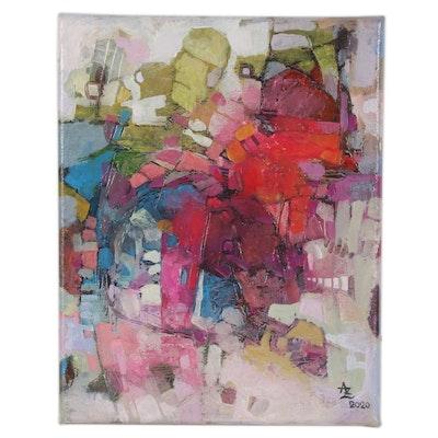 "Alexandra Zecevic Acrylic Painting ""Bactra,"" 2020"