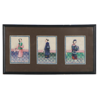 Chinese Figural Gouache Paintings