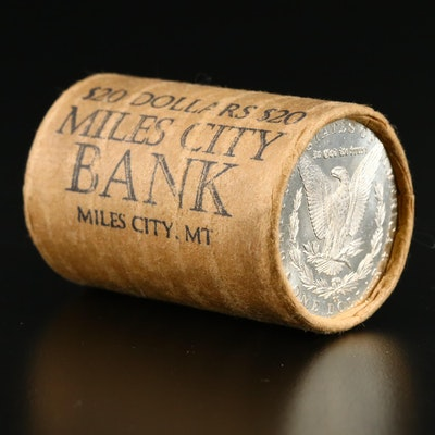 Roll of Twenty Morgan Silver Dollars Including Carson City