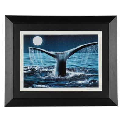 Giclée of Whale Tail, 21st Century