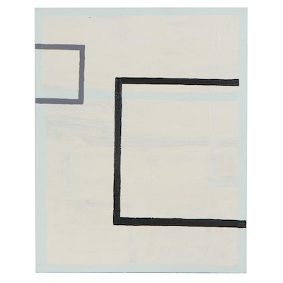 """Lawton Orchard Geometric Abstract Oil Painting """"It Is What It Is,"""" 2013"""