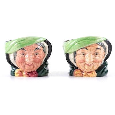 "Royal Doulton ""Sairey Gamp"" Ceramic Sugar Bowls, Mid-20th Century"