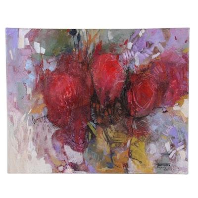 "Alexandra Zecevic Acrylic Painting ""Infusion,"" 2021"