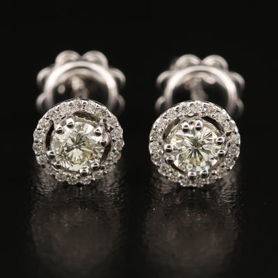 14K 0.64 CTW Diamond Cluster Stud Earrings