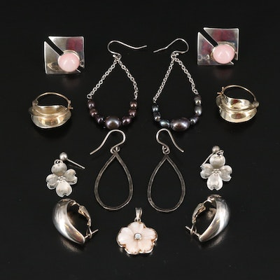 Start Nye Dogwood Earrings Featured with Sterling Gemstone Jewelry