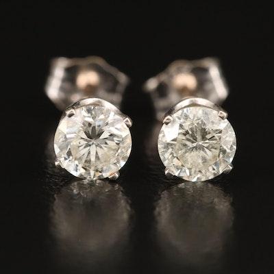 14K 1.14 CTW Diamond Stud Earrings