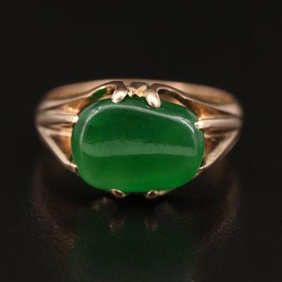 Vintage 10K Jadeite Ring