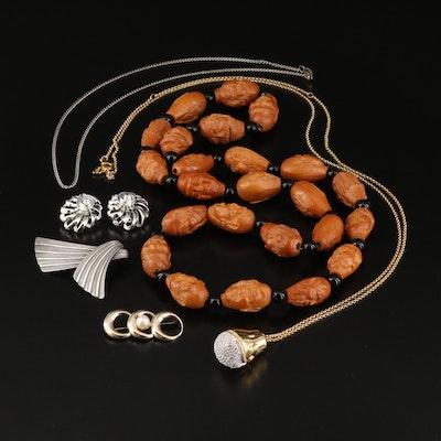 Vintage Jewelry with Swarovski Russian Doll, Seven Lucky Gods and Symmetalic