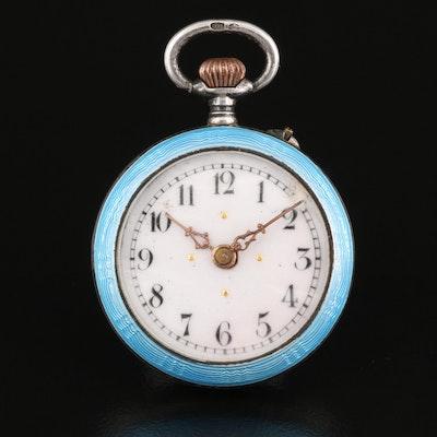 Sterling Silver Enamelled Pocket Watch