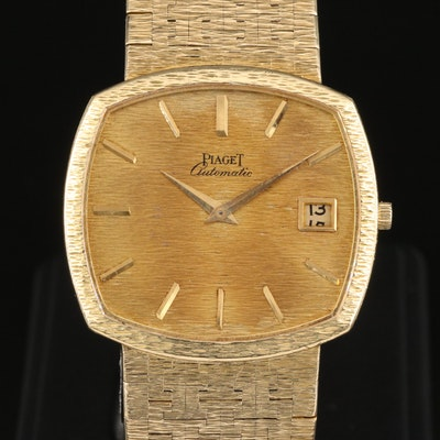 Vintage Piaget 18K Yellow Gold Automatic Wristwatch