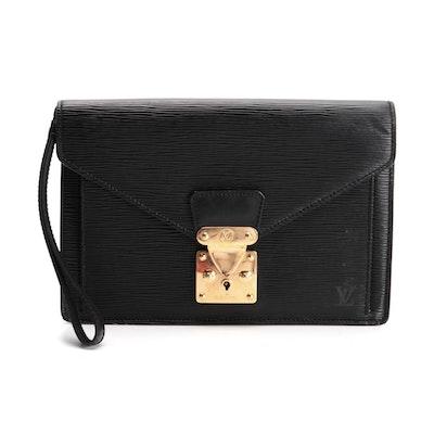 Louis Vuitton Sellier Dragonne Wristlet in Black Epi Leather