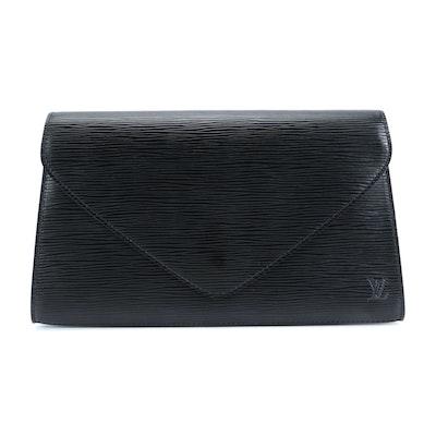 Louis Vuitton Art Deco Clutch in Black Epi Leather