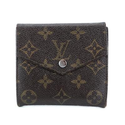 Louis Vuitton Square Double Flap Wallet in Monogram Canvas