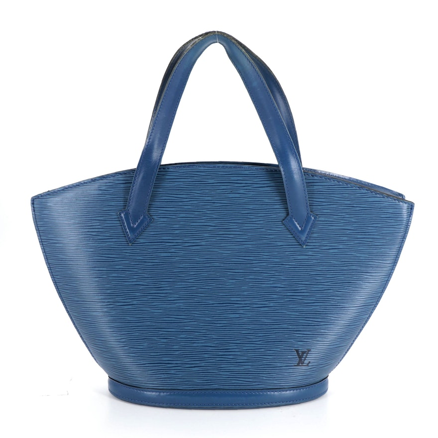 Louis Vuitton St. Jacques PM Handbag in Toledo Blue Epi and Smooth Leather