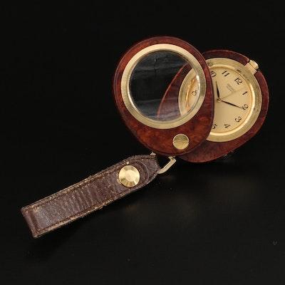 Seiko Quartz Timepiece with Leather Fob