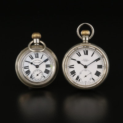 West End Watch Co. and Kay & Co. Open Face Pocket Watches