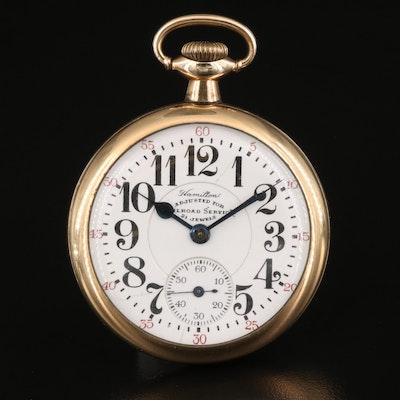 1920 Hamilton Gold Filled Railroad Grade Pocket Watch