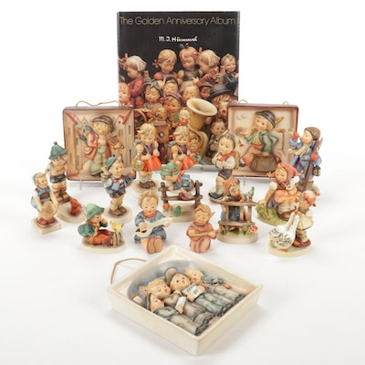 Goebel Porcelain Hummel Figurines, Wall Plaques and Anniversary Book