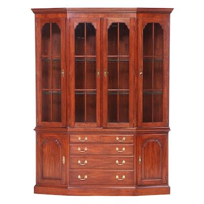 Henkel-Harris Cherry Display Cabinet, Late 20th Century
