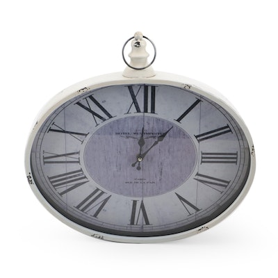 """Oversized Analog """"Hotel Westminster"""" Wall Clock, Contemporary"""