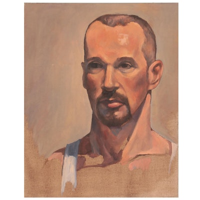 Portrait Oil Painting of Man with Goatee, 1999