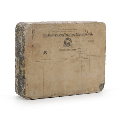 E. Swasey & Co. Accounting Lithography Stone Printing Block