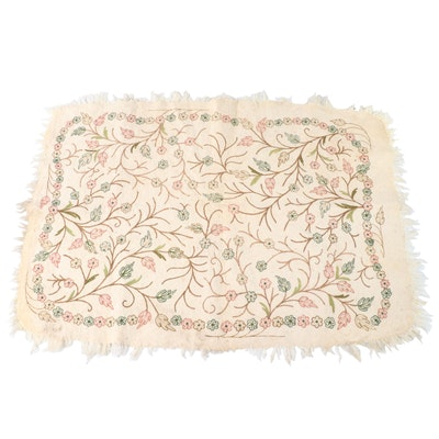 """4' x 6' Handmade Indian """"Imperial"""" Embroidered Wool Felt Area Rug"""