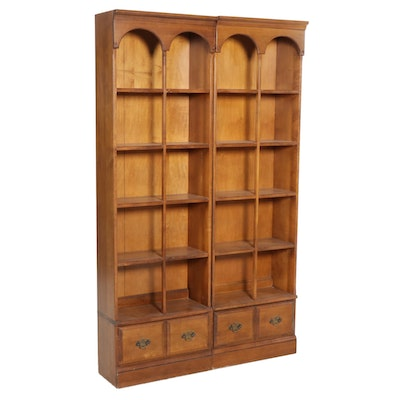 Pair of Butler Colonial Revival Bookcases, Mid to Late 20th Century