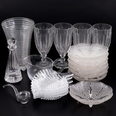 """Villeroy & Boch """"Paloma Picasso"""" Crystal Decanter and Other Glass Tableware"""