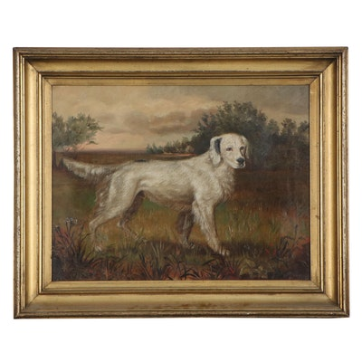 Oil Painting of English Setter, 1878