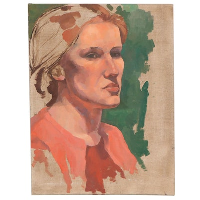Portrait Oil Painting of Young Woman, 1999