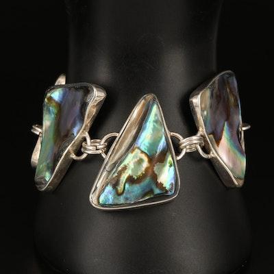 Abalone Triangle Link Bracelet