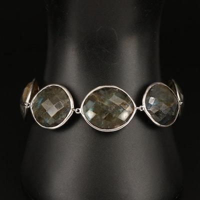 Sterling Labradorite Link Bracelet
