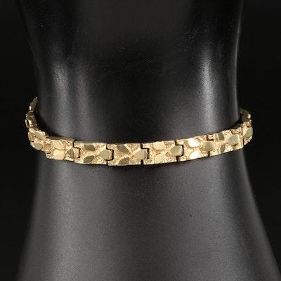 14K Nugget Style Link Bracelet
