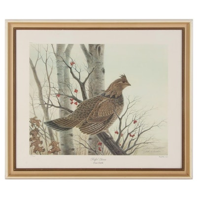 """John A. Ruthven Offset Lithograph """"Ruffed Grouse,"""" Late 20th-21st Century"""