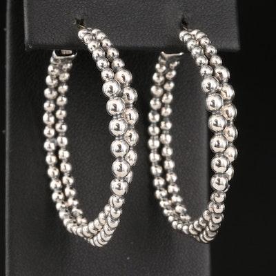 Michael Dawkins Sterling Silver Double Hoop Earrings