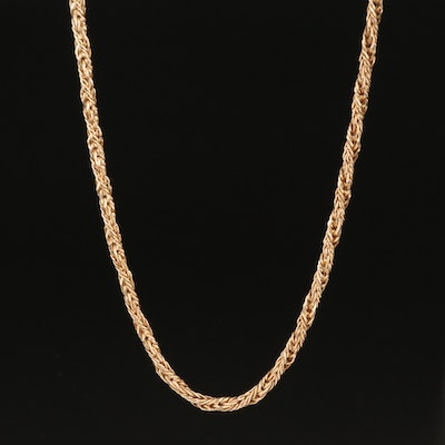 14K French Foxtail Chain Necklace