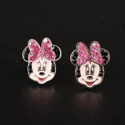 Disney Minnie Mouse Sterling Silver Stud Earrings