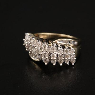 10K 1.09 CTW Diamond Ring