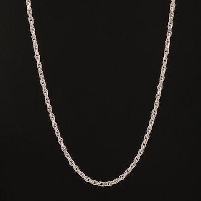 14K Rope Link Necklace