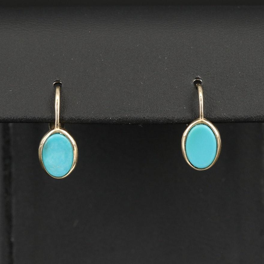 10K Turquoise Earrings