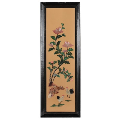 Chinese Style Carved Stone Relief Panel