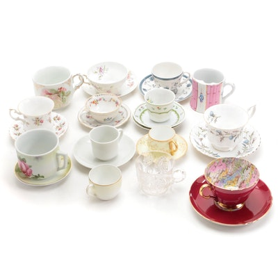 """Royal Doulton """"Cambridge"""" Teacup and Saucer with Other Teacups and Saucers"""