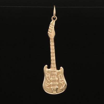 14k Electric Guitar Pendant
