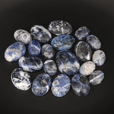 Loose Oval Sodalite Cabochons