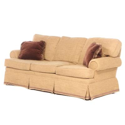 Wesley Hall Custom-Upholstered Roll-Arm Sofa