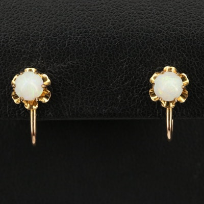 Vintage 10K Opal Earrings