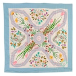 Gucci Silk Twill Scarf in Floral and Fruit Print Designed by V. Accornero