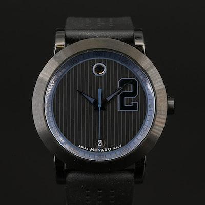 "Movado ""Derek Jeter Captain Series"" Black PVD Quartz Wristwatch"